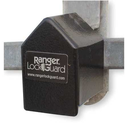 "Padlock Guard, Hardened Steel, Blk, 2-3/4""L"