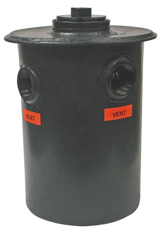Dilution Tank, 15 Gallons, 3 In FIP, Poly