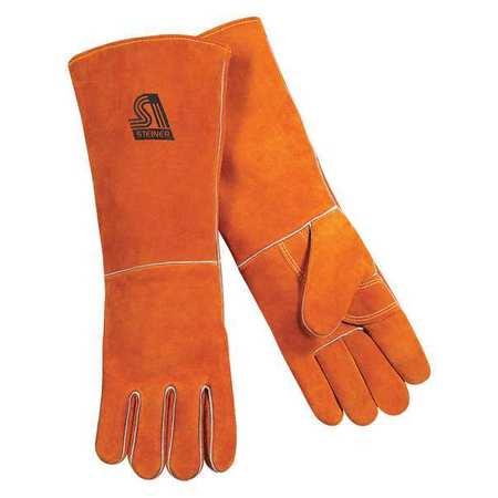 Welding Gloves, Stick, L, 18 In. L, Wing, PR