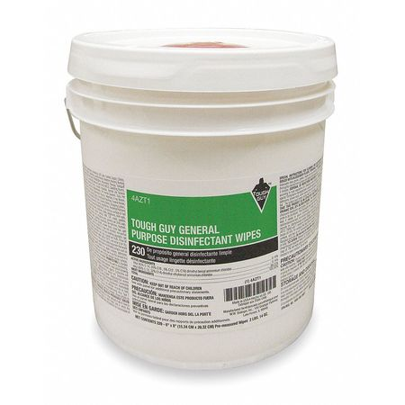 "Germicidal Disinfecting Wipes,  6 x 8"",  220 Wipes"