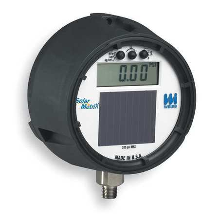 Digital Gauge, 0 to 1000 Psi, 1/4 In NPT