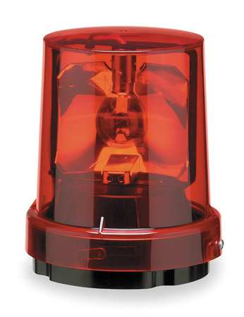 Warning Light, Incandescent, Red, 120VAC