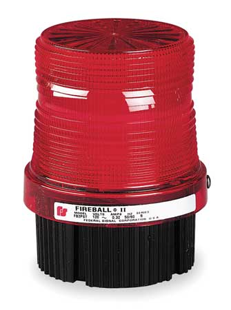 Warning Light, Strobe Tube, Red, 120VAC