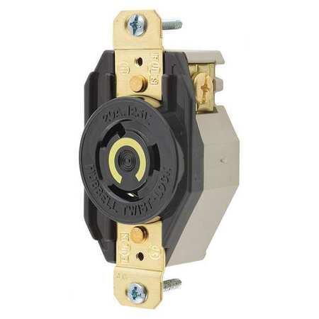 20A Locking Receptacle 2P 3W 125VAC L5-20R BK