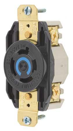 20A Locking Receptacle 3P 4W 250VAC L15-20R BK