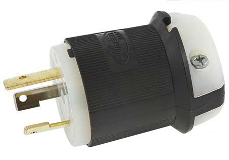 30A Locking Plug 2P 3W 125VAC L5-30P BK/WT