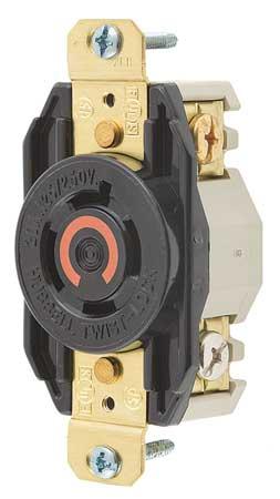 20A Locking Receptacle 3P 4W 125/250VAC L14-20R BK