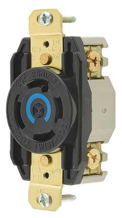 30A Locking Receptacle 3P 4W 250VAC L15-30R BK