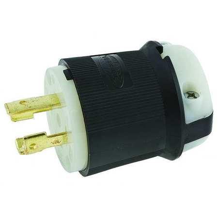 30A Locking Plug 3P 4W 250VAC L15-30P BK/WT