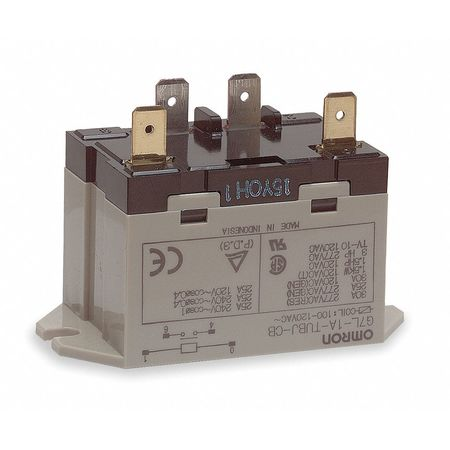 Enclosed Power Relay, 4 Pn, 120VAC, SPST-NO