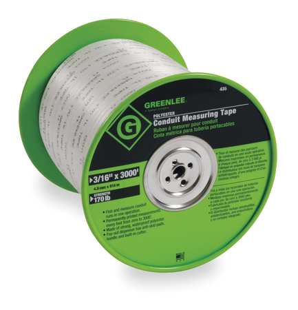 Measuring Tape, Conduit, 3000 Ft x 3/16 In