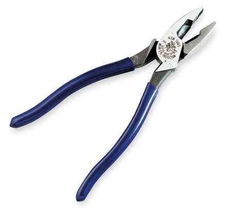 Linemans Pliers, 9-3/8 In, Dipped Handle