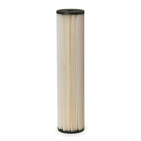 Pleated Filter Cartridge, 10 gpm, 20 Mic