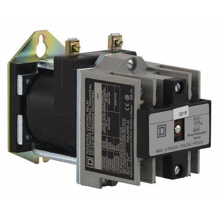 NEMA Control Relay, 4NO, 24VDC, 10A
