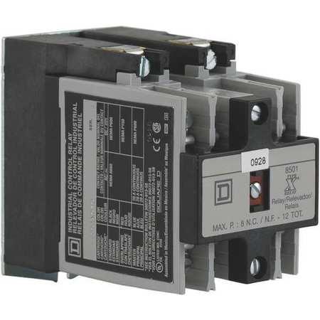 NEMA Control Relay, 4NO, 120VAC, 10A