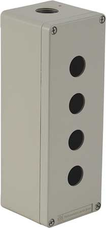 Pushbutton Enclosure, 22mm, 4 Holes, Metal