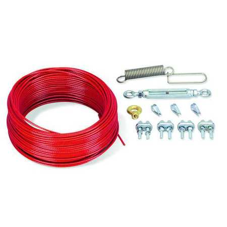 Cable Kit, Plastic Coated Steel, 84 ft. L