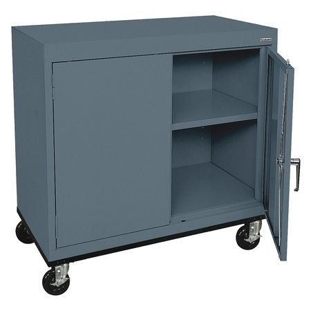 Mobile Storage Cabinet Welded Charcoal  sc 1 st  Zoro Tools & Sandusky Mobile Storage Cabinet Welded Charcoal TA11362430-02 ...