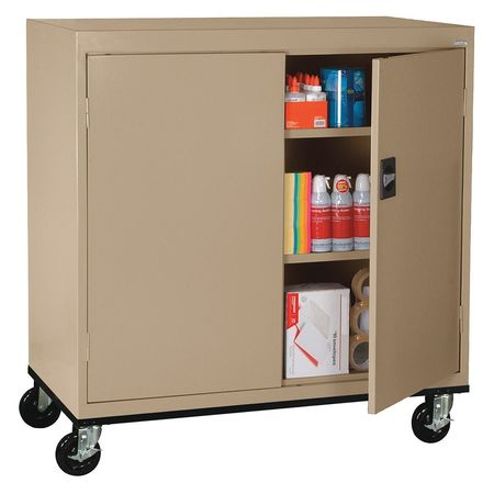 Mobile Storage Cabinet Welded Sand  sc 1 st  Zoro Tools : movable storage cabinets - Cheerinfomania.Com