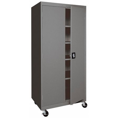 Mobile Storage Cabinet Welded Charcoal & Sandusky Mobile Storage Cabinet Welded Charcoal TA4R462472-02 ...