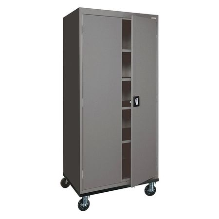 Mobile Storage Cabinet Welded Charcoal  sc 1 st  Zoro Tools & Sandusky Mobile Storage Cabinet Welded Charcoal TA4R302466-02 ...