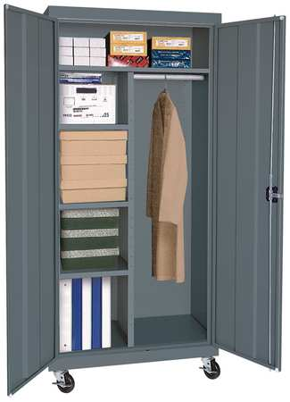 Mobile Combination Storage Cabinet & Sandusky Mobile Combination Storage Cabinet TACR462472-02 | Zoro.com
