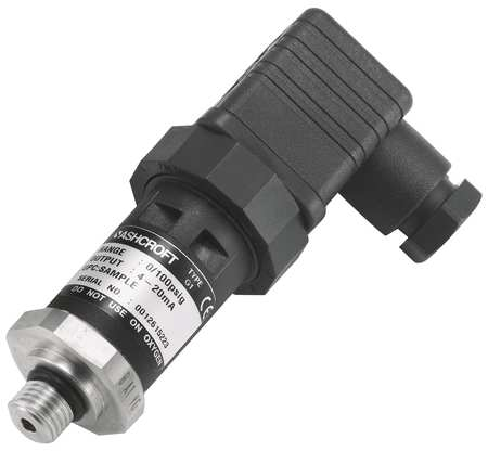 Pressure Transducer, Range 0 to 30 psi,