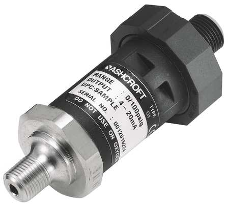 Transducer, 0 to 500 psi, Output 1 to 5VDC