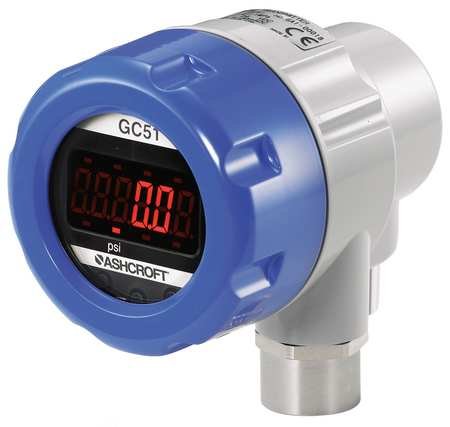Transducer with Display, Vac to 15 psi