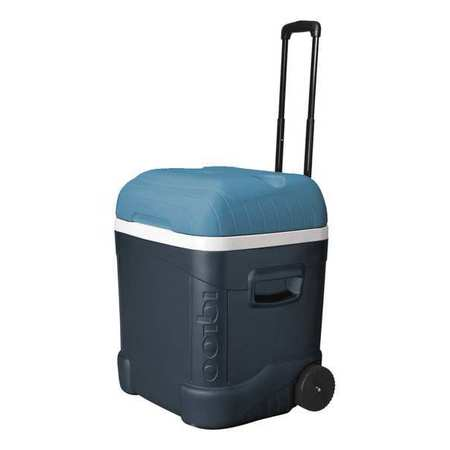 Wheeled Chest Cooler, 70 qt.,  Gray/Blue