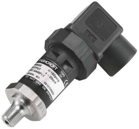 Transducer, 0 to 60 psi, Output 1 to 5VDC
