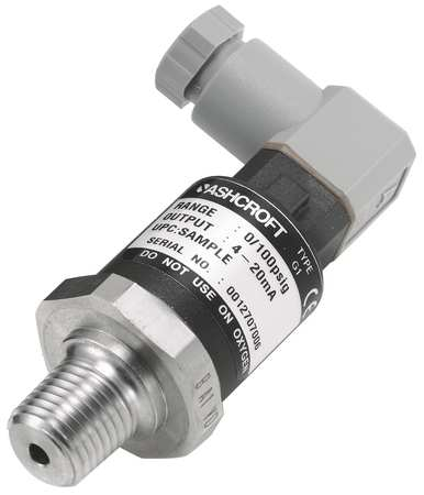 Transducer, 0 to 100 psi, Output 1 to 5VDC