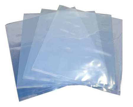 "6"" x 6"" LDPE Lay Flat Poly Bag,  4 mil,  Pk1000"