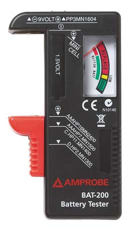 Battery Tester, 9V,  AA,  AAA,  C and D Cell