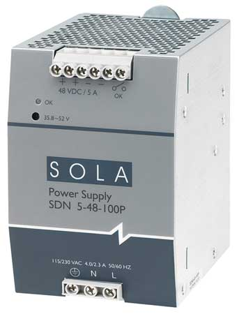 DC Power Supply, 48VDC, 5A, 60Hz