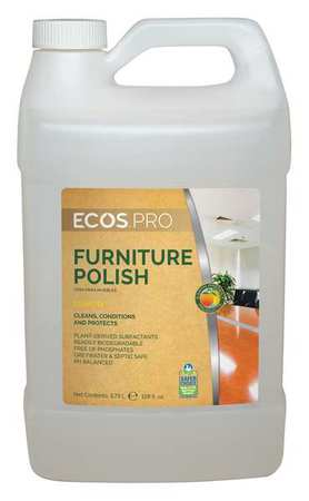 Furniture Polish, 128 oz., Citrus