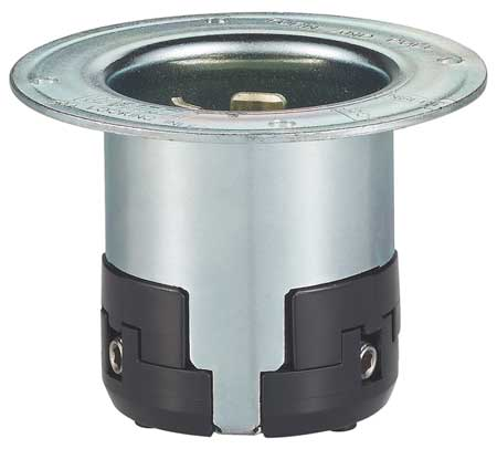 50A Flanged Locking Inlet 2P 3W 125VAC GY