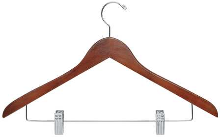 Wood Suit Hanger, Cherry, PK12