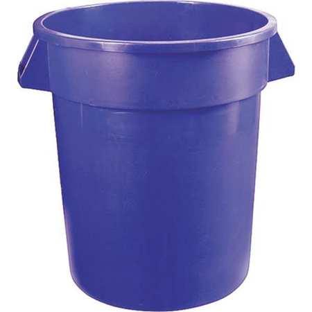32 gal.  Round  Blue  Trash Can