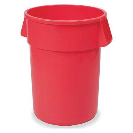 44 gal.  Round  Red  Trash Can