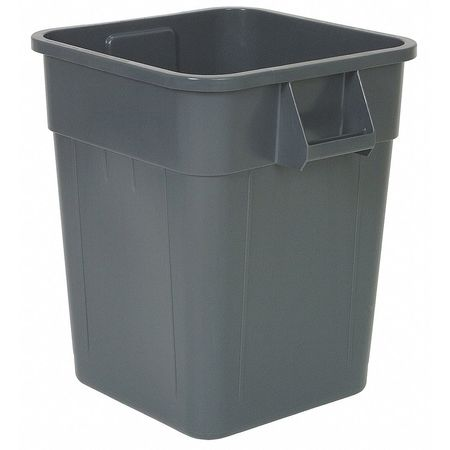 48 gal.  Square  Gray  Trash Can