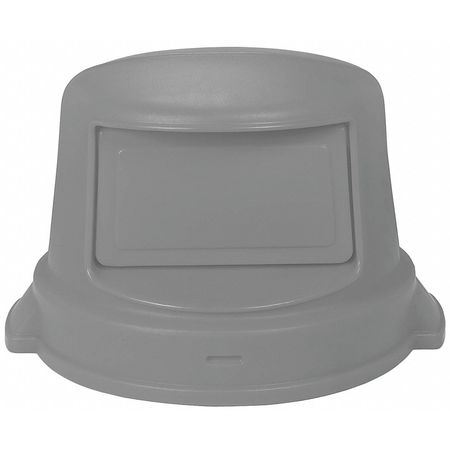 Trash Can Top, Dome, Swing Closure, Gray