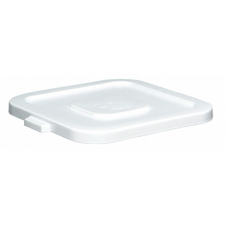 Trash Can Top, Flat, Snap-On Closure, White