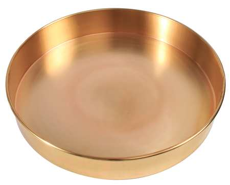 Sieve Bottom Pan, Brass, 12 In Dia, 2 In