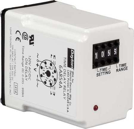 Time Delay Rlay, 12VDC, 10A, DPDT, 0.05 sec.