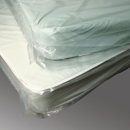 "90"" x 60"" Low Density Polyethylene Mattress Bag,  1.5 mil,  Pk100"