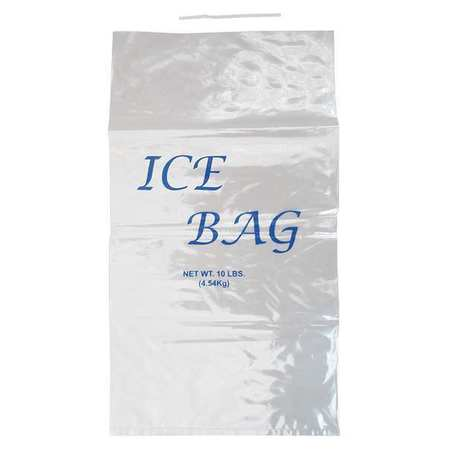 Ice Bag, 20x11 In., 1.50 mil, Pk1000