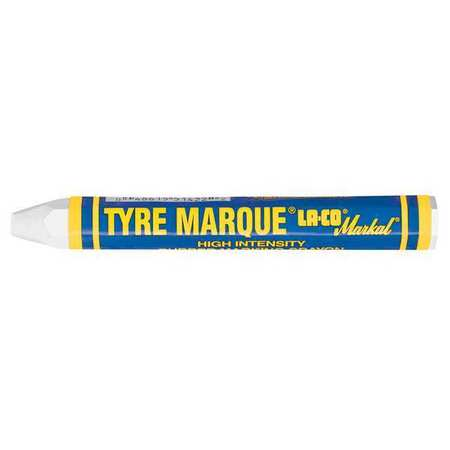 "Wax Tire Marker 1/2""W x 4-5/8""L,  White"