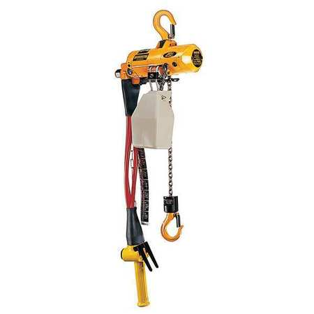 Air Chain Hoist, 250 lb. Cap., 15 ft. Lift