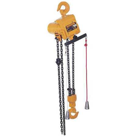 Air Chain Hoist, 1000 lb. Cap., 15 ft. Lft